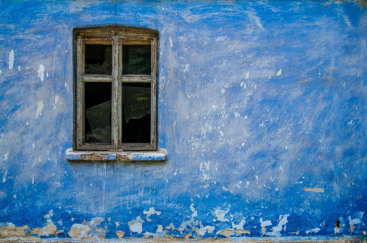 Stary błękitny dom, fotograf Paweł Litwin