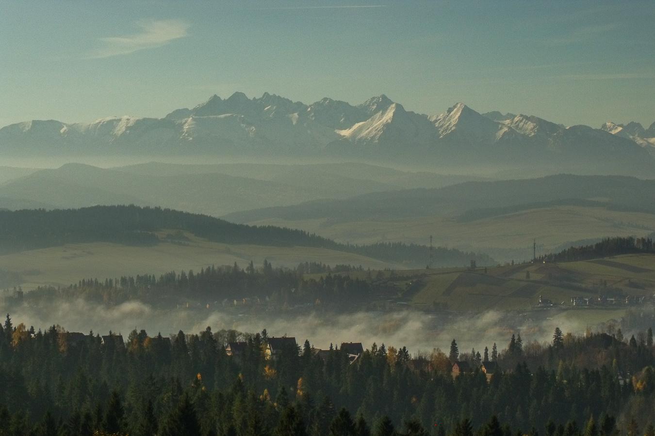 Widok na Tatry z Gorców, fotograf Paweł Litwin