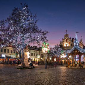Rynek w Rzeszowie, dekoracja świąteczna 2015, fotograf Paweł Litwin