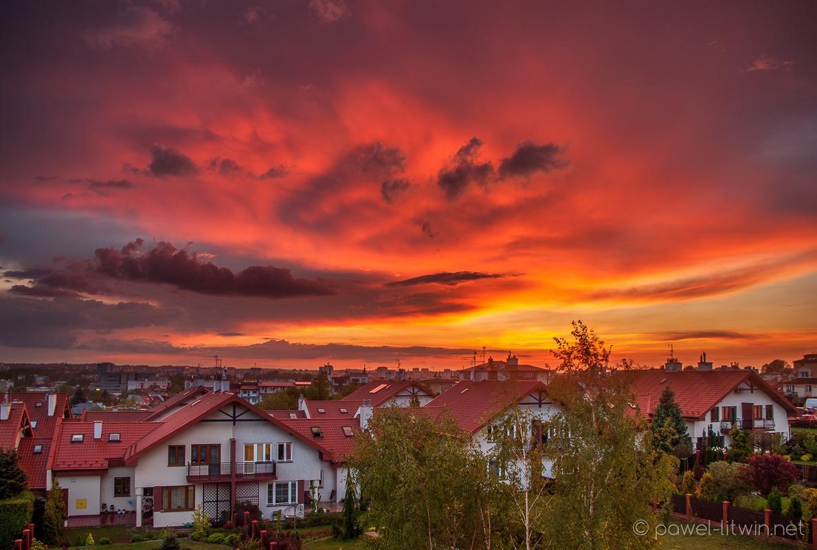 Zachód słońca, Rzeszów, złota godzina, fotograf Paweł Litwin