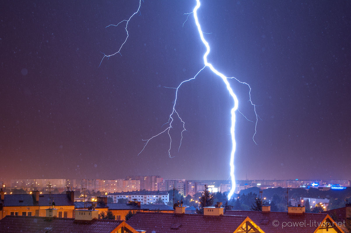 500m away lightning strike, Rzeszow